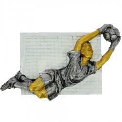 Emblemat płaskorzeźba piłka nożna bramkarz NR22 Polcups