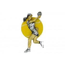 Emblemat płaskorzeźba tenis ziemny kobiet NR53 Polcups