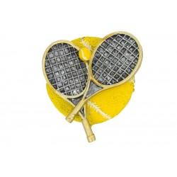 Emblemat płaskorzeźba tenis ziemny rakiety NR52 Polcups