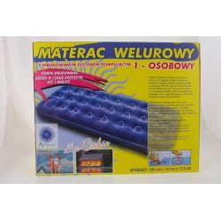 Materac 1 osobowy Welur
