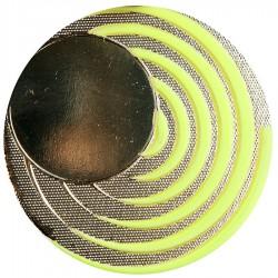Medal mały na wklejkę 25 mm fluorescencyjny