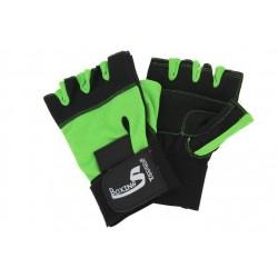 Rękawice na siłownie spendex zielonoczarne
