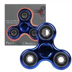 Zabawka Spinner metalowy niebiesko-czarny