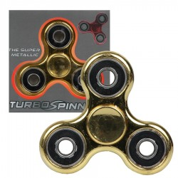 Zabawka Spinner metalowy złoto-czarny