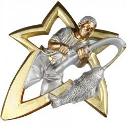 Emblemat płaskorzeźba wędkarstwo wędkarz NR41 Polcups